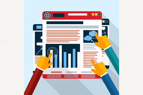 Set Of Web Site Seo Analytics Charts