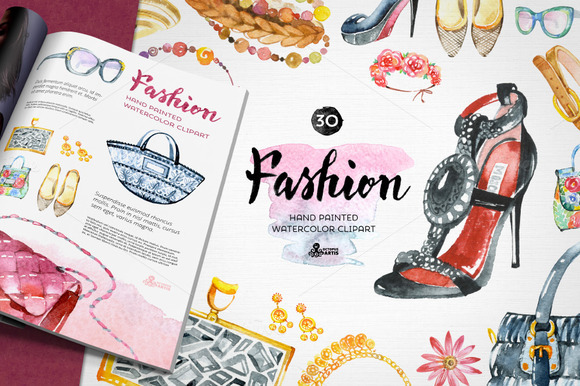 Fashion Watercolor Clipart