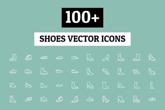 100 Shoes Vector Icons