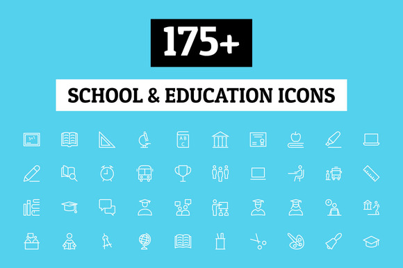 175 School And Education Icons
