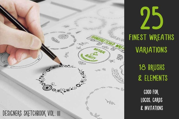 Finest Handsketched Wreaths