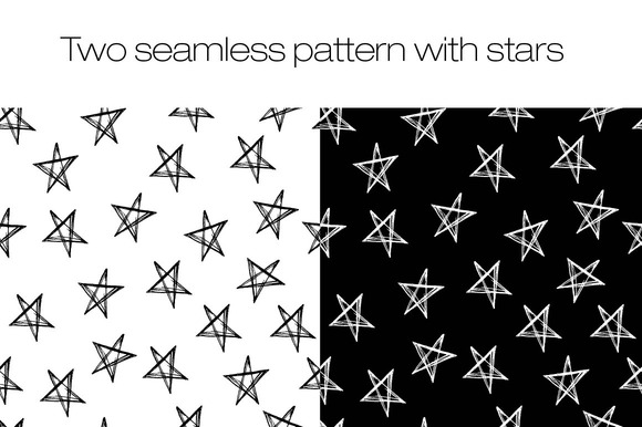 Two Seamless Pattern With Stars