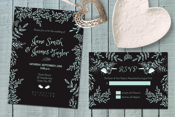 Dark Wedding Invitation