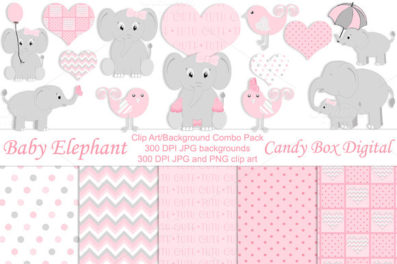 Girl Baby Elephant Combo Pack