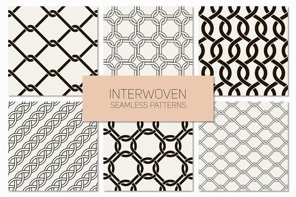 Interwoven Seamless Patterns Set