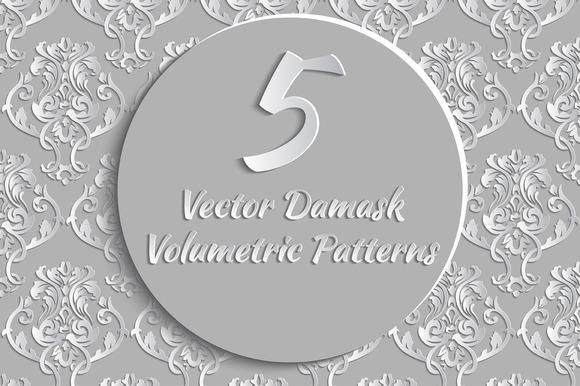 Vector Damask Volumetric Patterns
