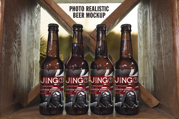 Photo Realistic Beer Mockup