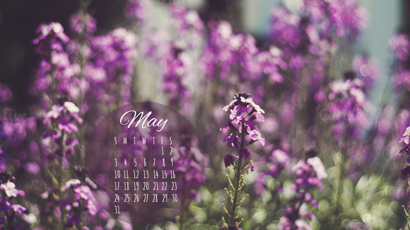 May 2015 Desktop Calendar Photo