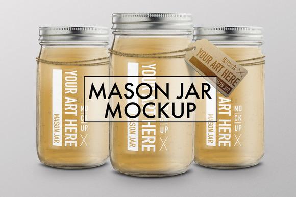 Mason Jar Mockup