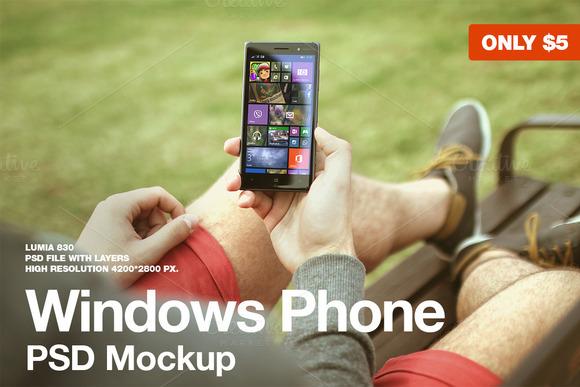 Windows Phone Mockup Lumia 830