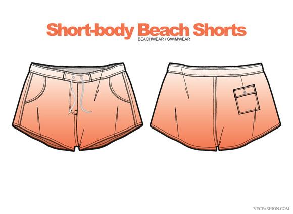 Woman Beach Shorts Clothing Vector