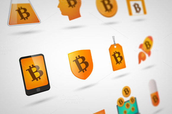 Bit Coin Icon Set
