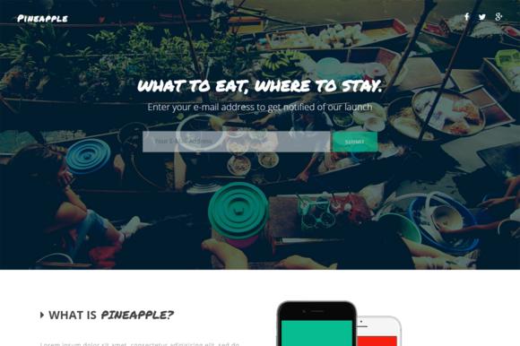 Pineapple App Landing Page