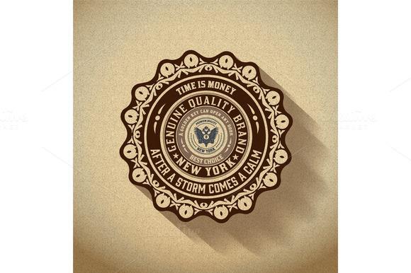 Retro Emblem Heraldic Elements