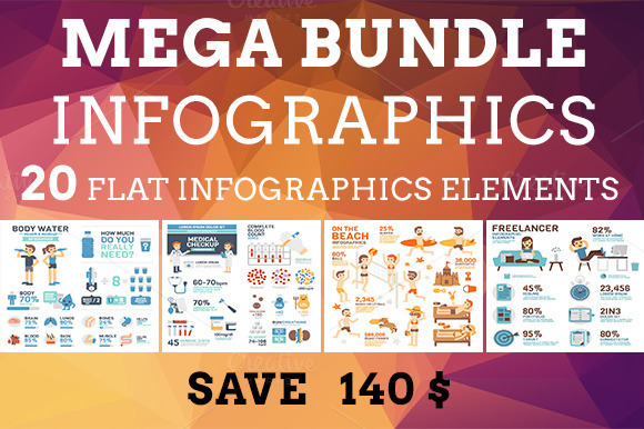 Mega Bundle Infographics Elements