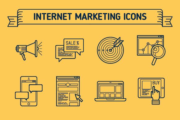Marketing Outline Colored Icons