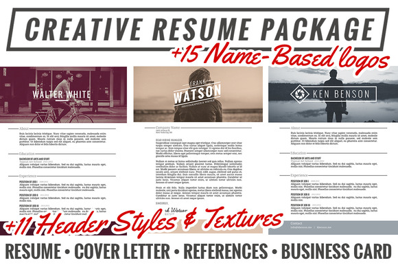 Creative Resume Package Extras