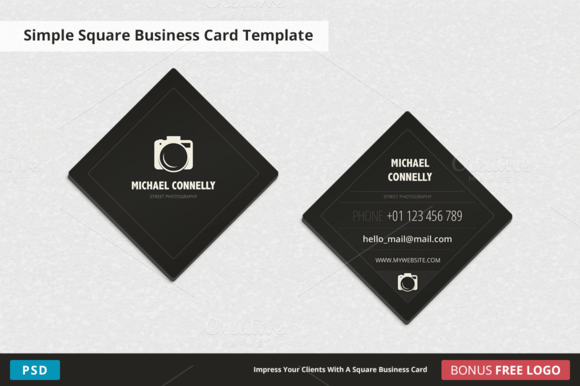 StreetPhoto Square Business Card