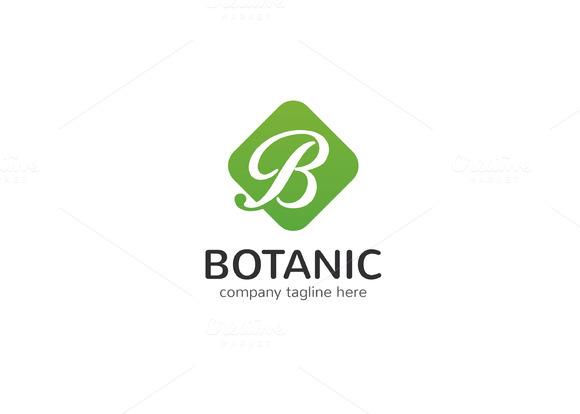 Botanic Letter B Logo