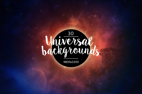 Cosmic Universe Vintage Backgrounds
