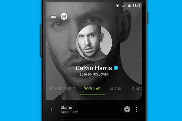 Spotify In Material Design UI KIT