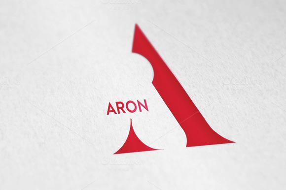 A Letter ARON Logo Template