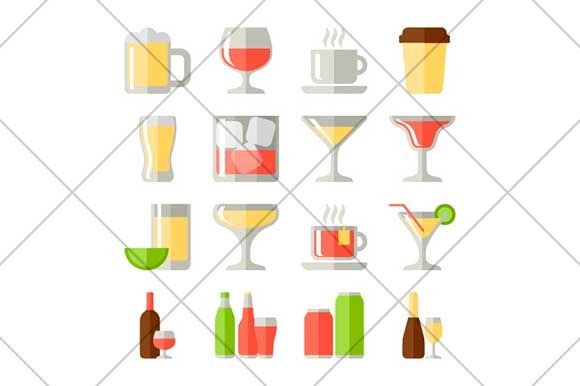 Drink Flat Icons