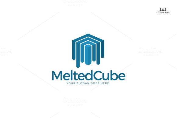 Melted Cube Logo