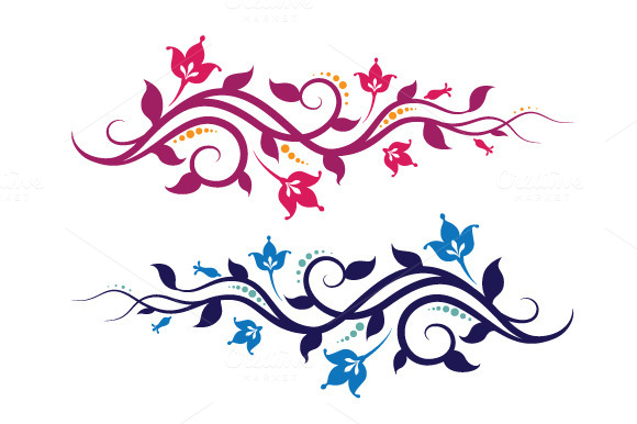 Decorative Vines And Flowers
