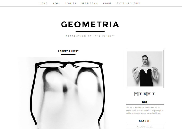 Geometria Modern Wordpress Theme