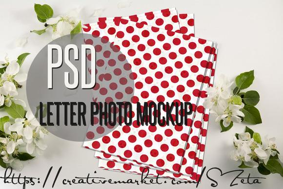 Letter Photo Mockup 4