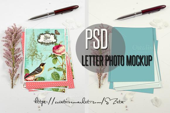 Letter Photo Mockup 5