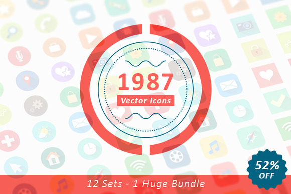 1987 Huge Vector Icons Bundle