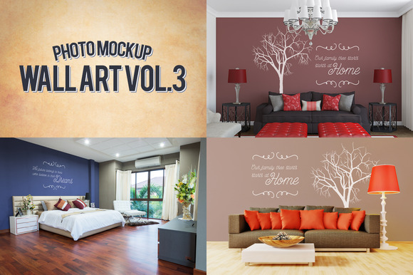 Wall Art Photo Mockups Volume 3