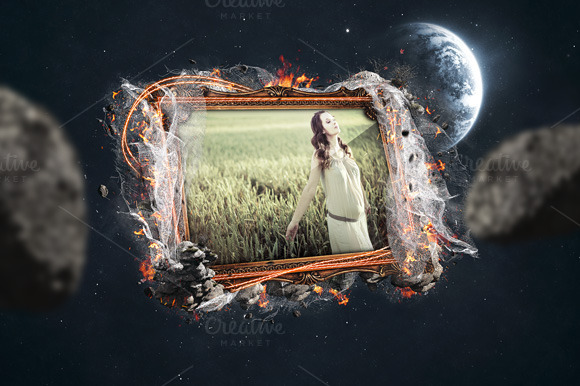 Artistic Photo Frame Mockup