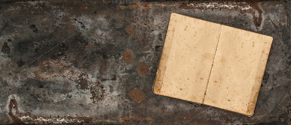 Rustic Textured Background With Book