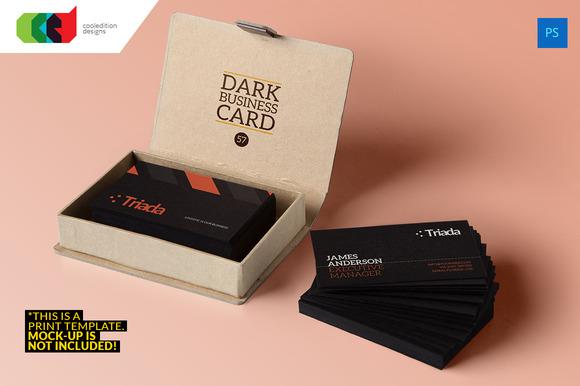 Dark Business Card 57