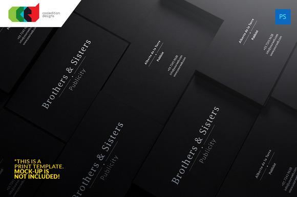 Dark Business Card 58