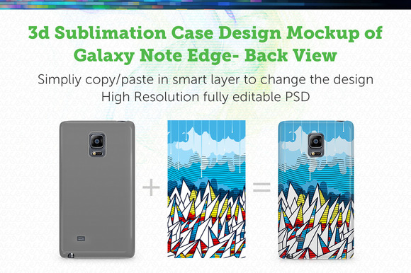 GalaxyNote Edge3D Sublimation Mockup