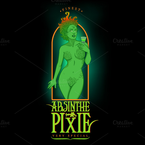Finest Absinthe Pixie Label