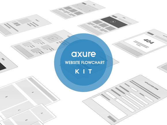 Axure Website Flowchart Sitemap Kit
