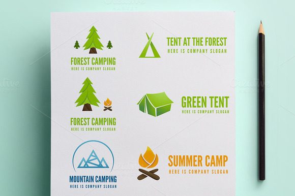 Collection Of Camping Logo