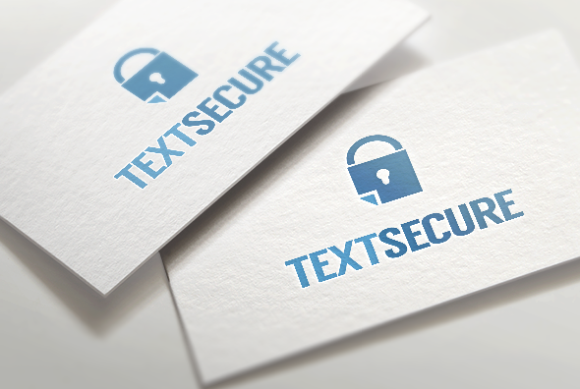 Text Secure Logo Template