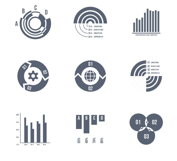Diagrams Charts And Graphs Icons