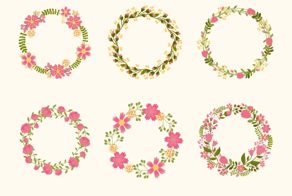 Cute Vector Wreaths