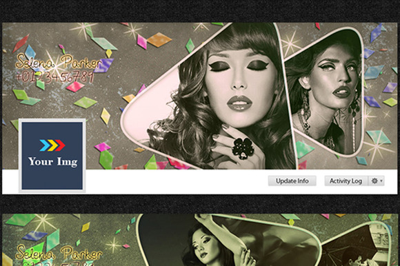 2 Colorful Facebook Timeline Covers