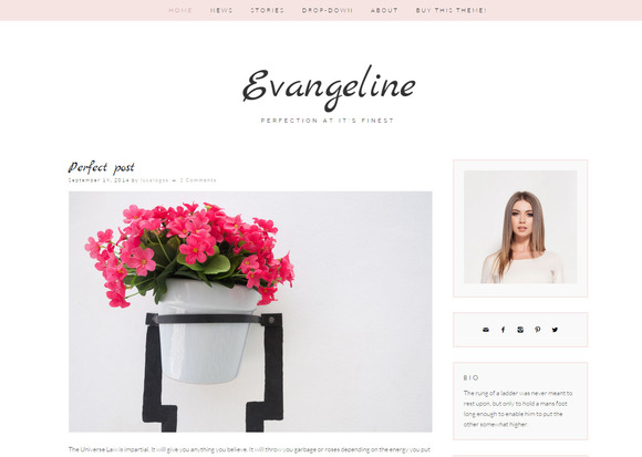 Evangeline Feminine Wordpress Blog