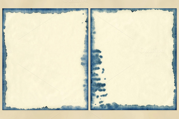 Watercolor Frames Paper Backgrounds