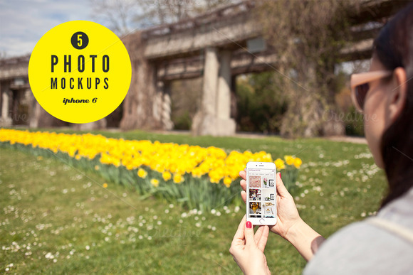 IPhone 6 Spring Set 5 Mockups