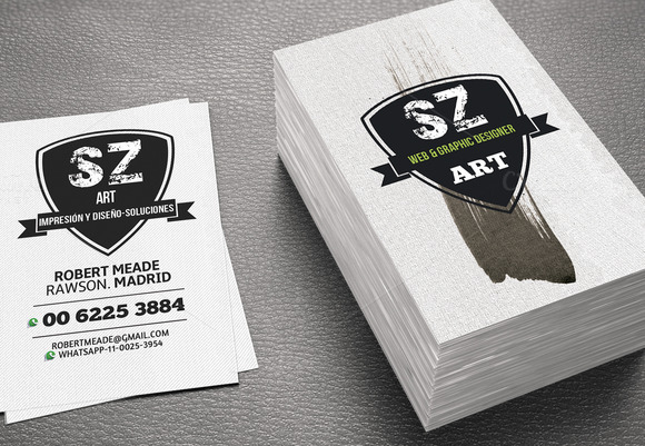 Business Card Brushwork